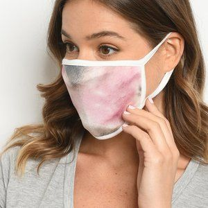 Accessories - PINK BROWN REUSABLE FACE MASK FOR ADULTS